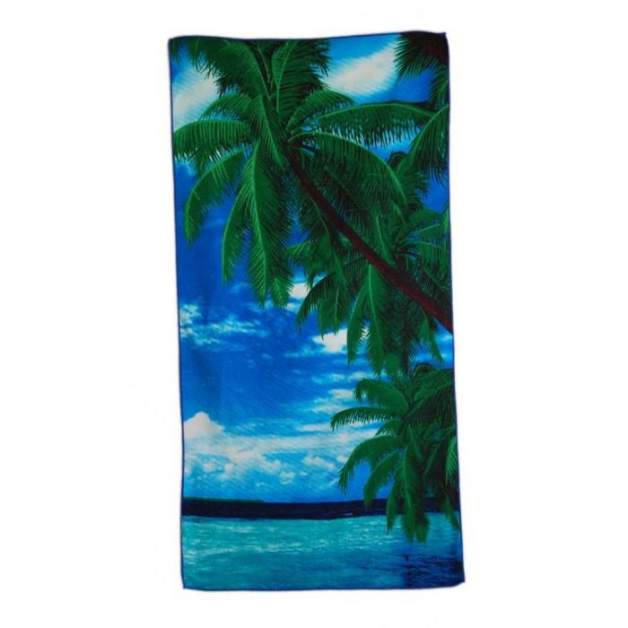 Плажна хавлия - палми и море
